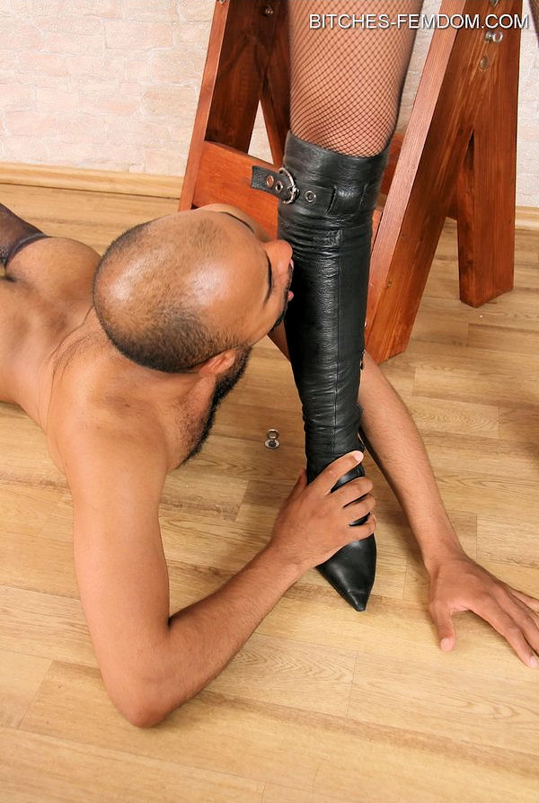 Femdom mistresses dominate male slave in all ways 5