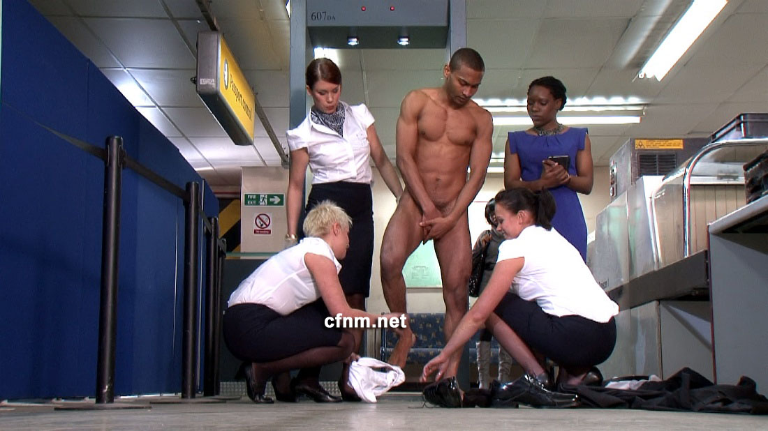 Cfnm airport strip search porn